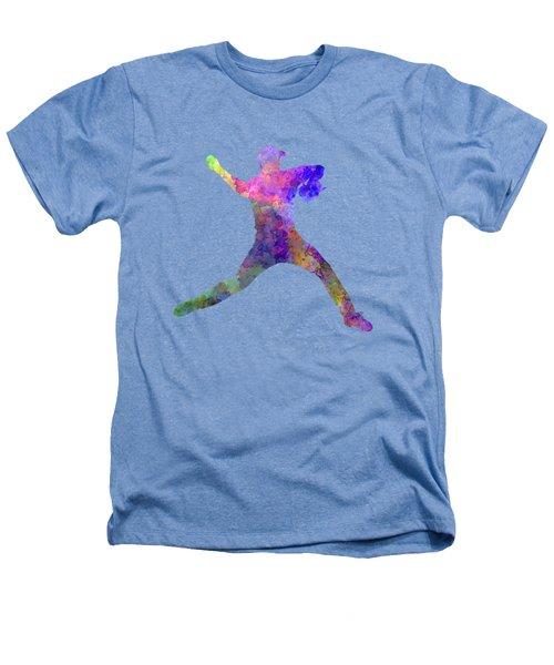 Baseball Player Throwing A Ball Heathers T-Shirt by Pablo Romero