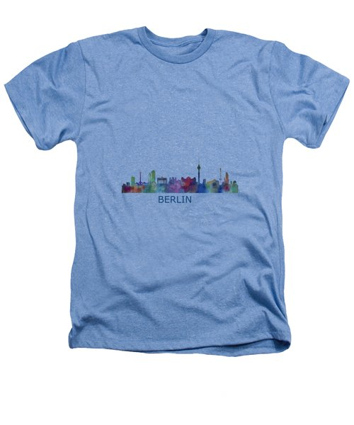 Berlin City Skyline Hq 1 Heathers T-Shirt by HQ Photo