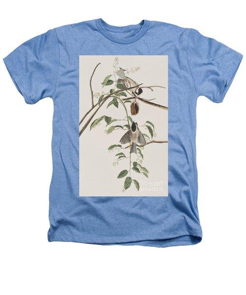 Black Capped Titmouse Heathers T-Shirt