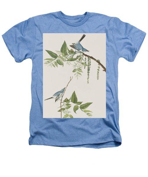 Blue Grey Flycatcher Heathers T-Shirt