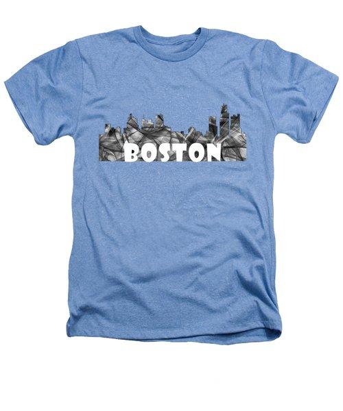 Boston Massachusetts Skyline Heathers T-Shirt