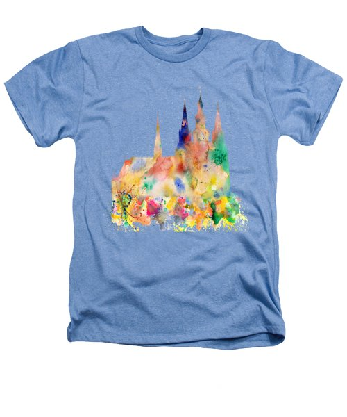 Cathedral Of Saint Vitus In The Prague Castle Watercolor Art Heathers T-Shirt