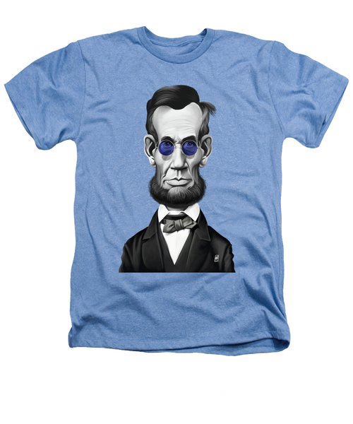 Celebrity Sunday - Abraham Lincoln Heathers T-Shirt by Rob Snow