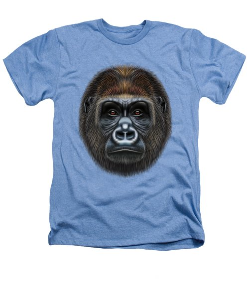 Illustrated Portrait Of Gorilla Male. Heathers T-Shirt by Altay Savrukov