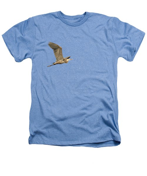 Isolated Great Blue Heron 2015-5 Heathers T-Shirt by Thomas Young