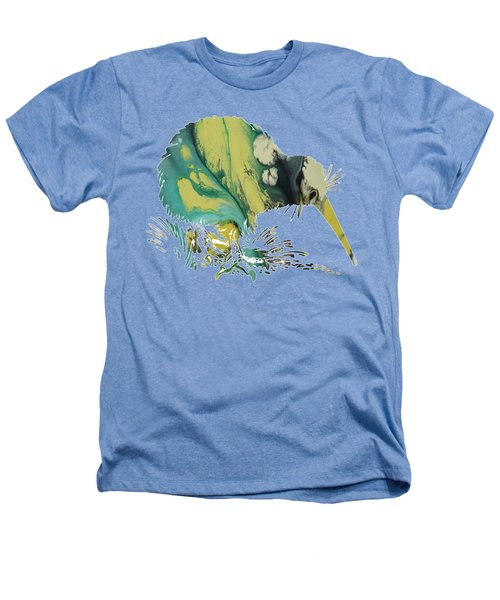 Kiwi Bird Heathers T-Shirt by Mordax Furittus