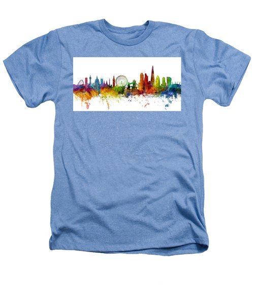 London England Skyline Panoramic Heathers T-Shirt by Michael Tompsett