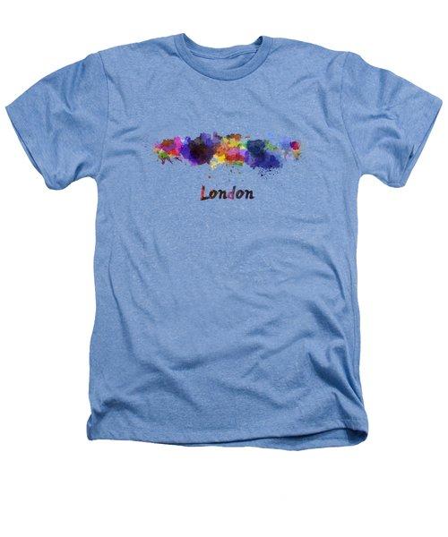 London Skyline In Watercolor Heathers T-Shirt by Pablo Romero