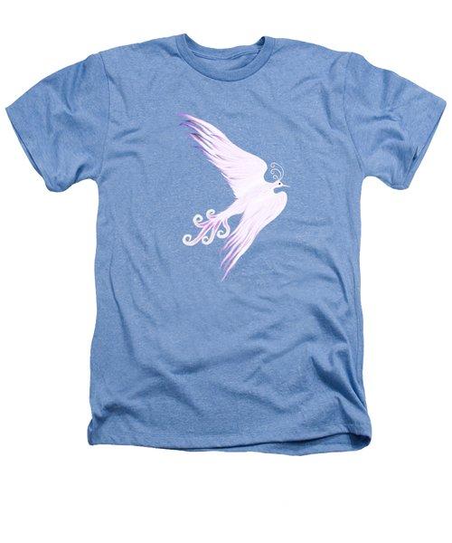 Magical Phoenix Bird Artistic Design Heathers T-Shirt by Awen Fine Art Prints