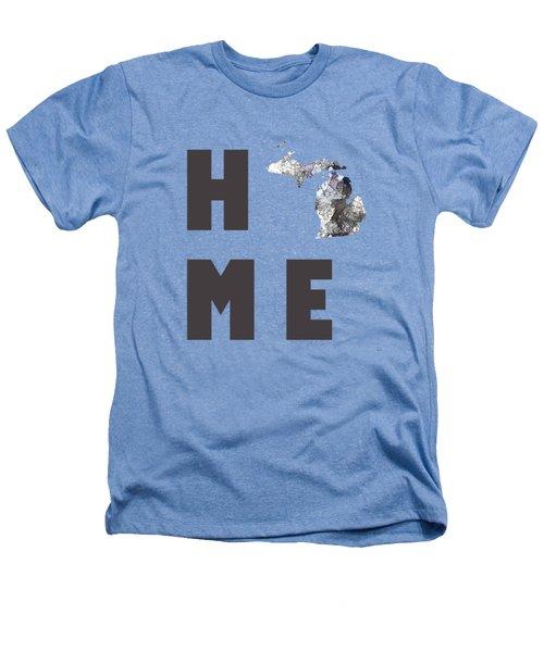 Michigan State Map Heathers T-Shirt
