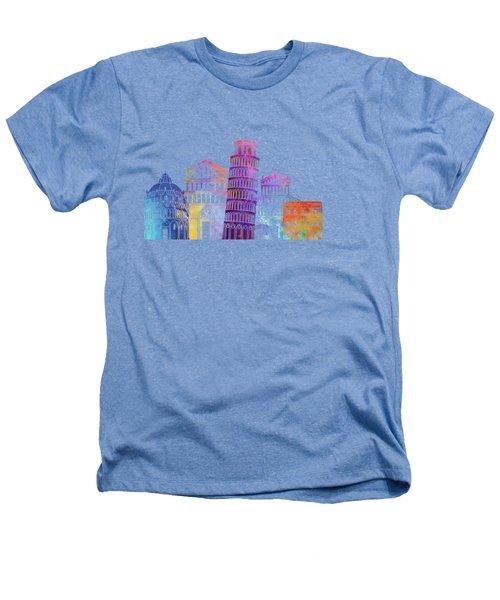 Barcelona Landmarks Watercolor Poster Heathers T-Shirt