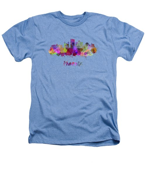 Phoenix Skyline In Watercolor Heathers T-Shirt by Pablo Romero