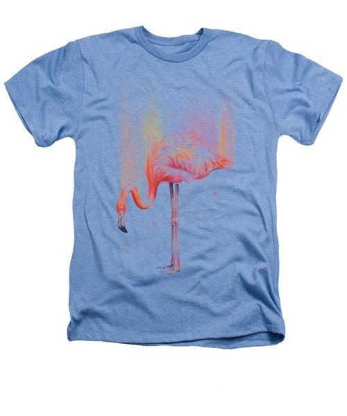 Pink Flamingo - Facing Right Heathers T-Shirt