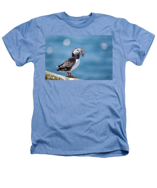 Puffin With Fish For Tea Heathers T-Shirt