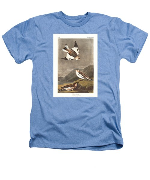 Snow Bunting Heathers T-Shirt by Rob Dreyer