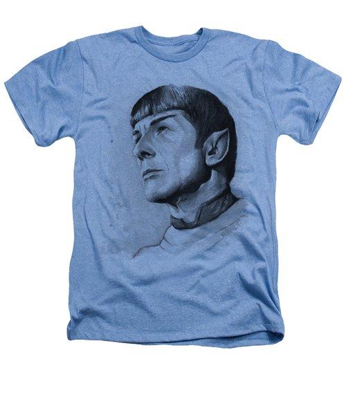 Spock Portrait Heathers T-Shirt by Olga Shvartsur