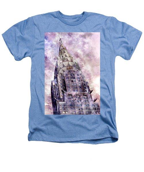 The Chrysler Building Heathers T-Shirt by Jon Neidert