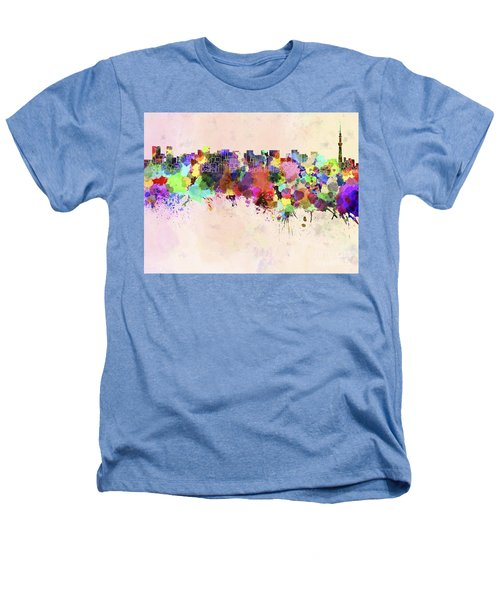 Tokyo Skyline In Watercolor Background Heathers T-Shirt