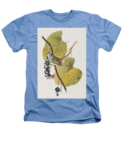 White-crowned Sparrow Heathers T-Shirt by John James Audubon