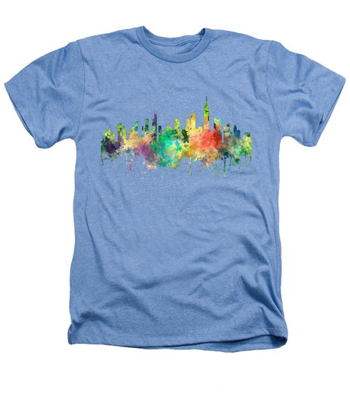 Chicago Illinois Skyline Heathers T-Shirt
