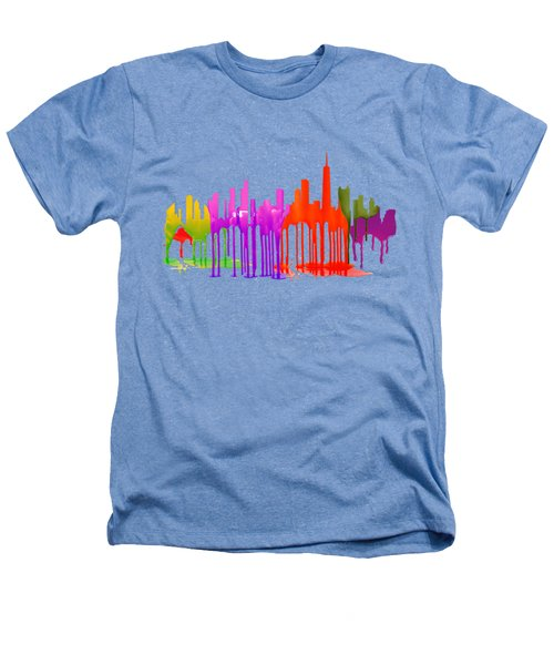 Chicago Illinois Skyline Heathers T-Shirt by Marlene Watson