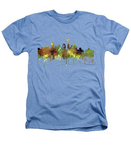 Seattle Washington Skyline Heathers T-Shirt