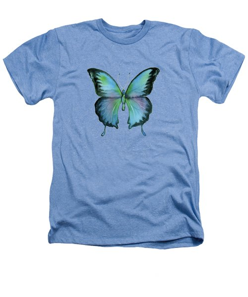 12 Blue Emperor Butterfly Heathers T-Shirt
