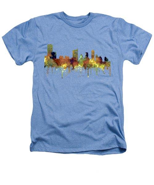 Austin Texas Skyline Heathers T-Shirt by Marlene Watson