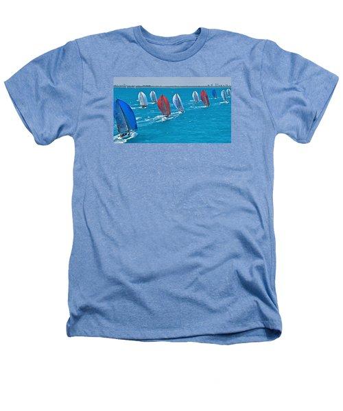 Miami Skyline Regatta Heathers T-Shirt by Steven Lapkin