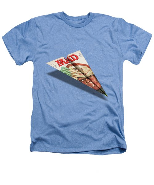 157 Mad Paper Airplane Heathers T-Shirt by YoPedro
