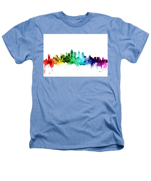 Philadelphia Pennsylvania Skyline Heathers T-Shirt by Michael Tompsett