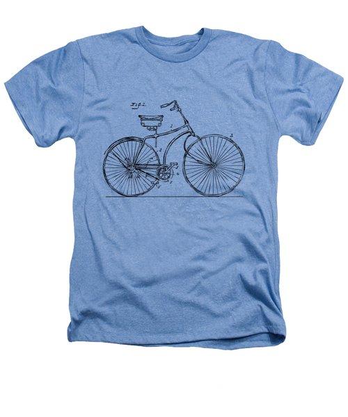 1890 Bicycle Patent Minimal - Vintage Heathers T-Shirt