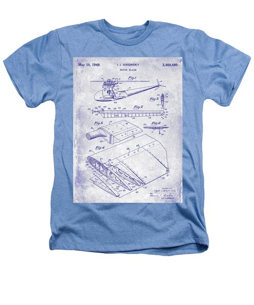 1949 Helicopter Patent Blueprint Heathers T-Shirt