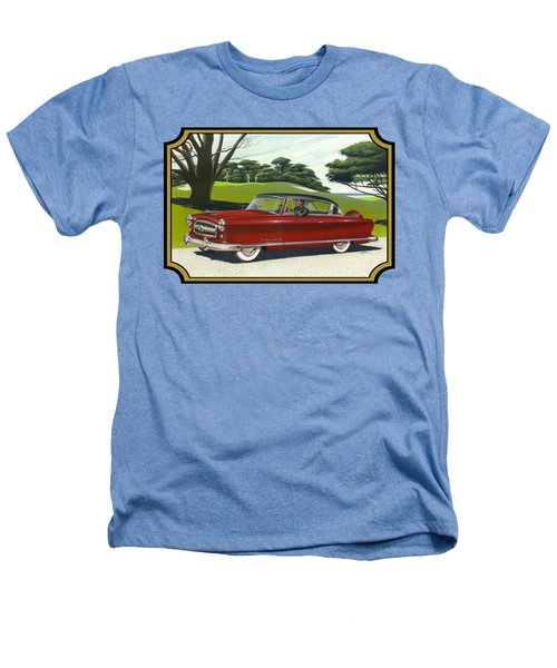 1953 Nash Rambler Car Americana Rustic Rural Country Auto Antique Painting Red Golf Heathers T-Shirt by Walt Curlee