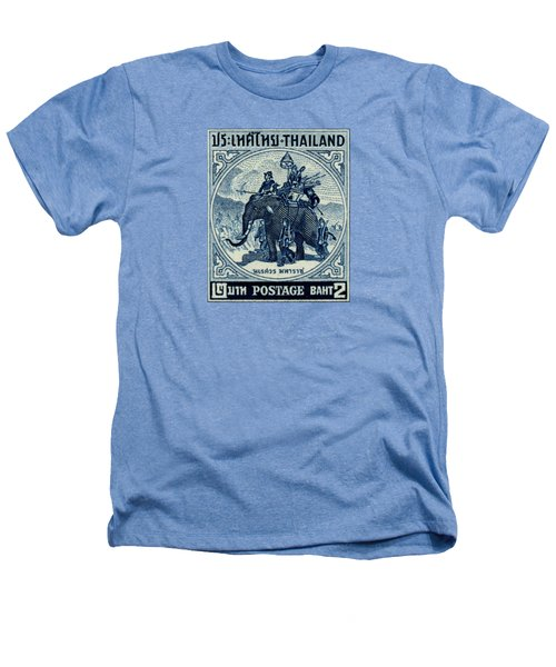 1955 Thailand War Elephant Stamp Heathers T-Shirt by Historic Image