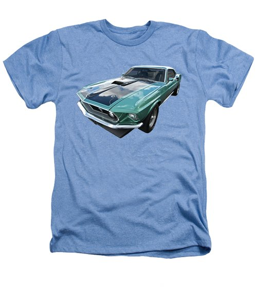 1969 Green 428 Mach 1 Cobra Jet Ford Mustang Heathers T-Shirt by Gill Billington