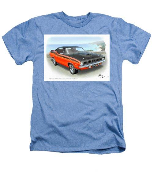 1970 Barracuda Aar  Cuda Classic Muscle Car Heathers T-Shirt by John Samsen