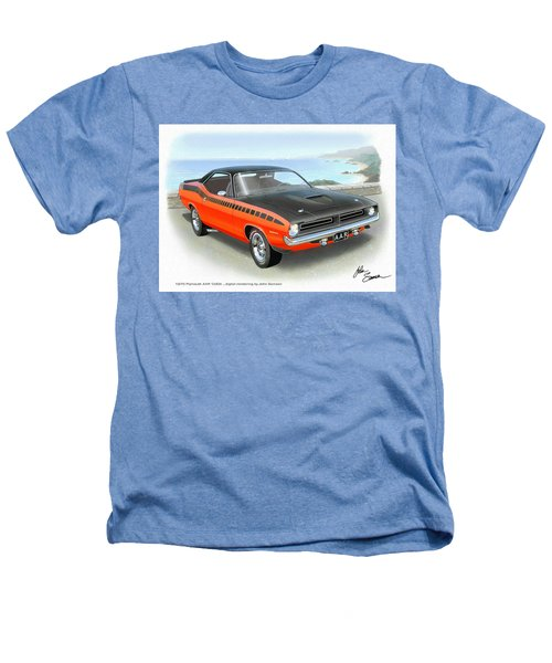 1970 Barracuda Aar  Cuda Classic Muscle Car Heathers T-Shirt