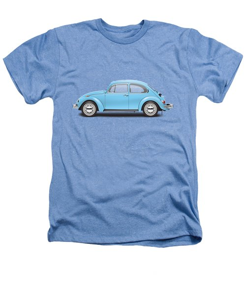 1972 Volkswagen Super Beetle - Marina Blue Heathers T-Shirt by Ed Jackson