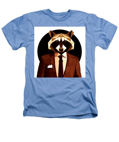 Abstract Geometric Raccoon Heathers T-Shirt