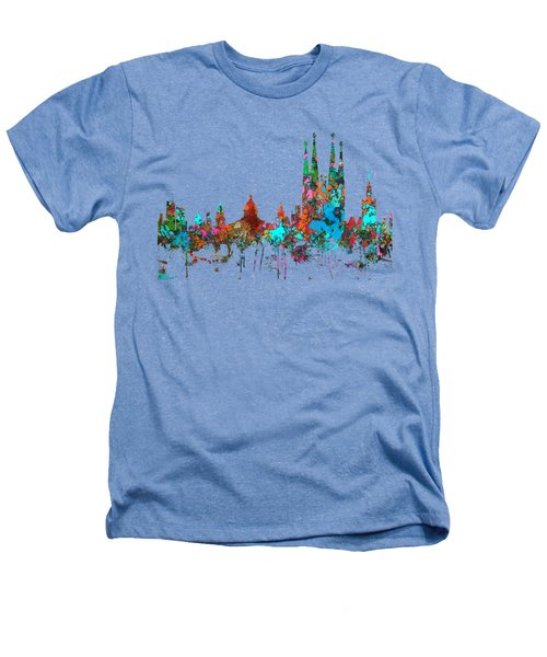 Barcelona Spain Skyline Heathers T-Shirt
