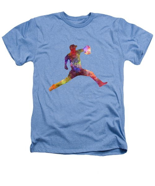 Baseball Player Throwing A Ball Heathers T-Shirt