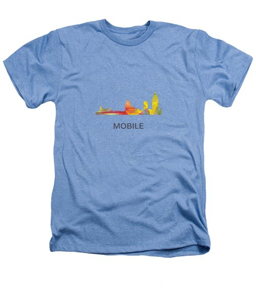 Mobile Alabama Skyline Heathers T-Shirt by Marlene Watson