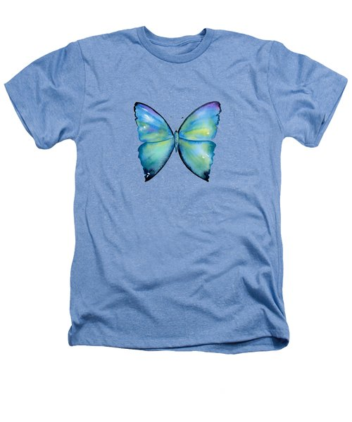 2 Morpho Aega Butterfly Heathers T-Shirt by Amy Kirkpatrick