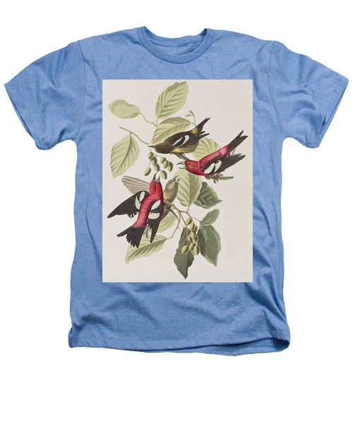 White-winged Crossbill Heathers T-Shirt by John James Audubon