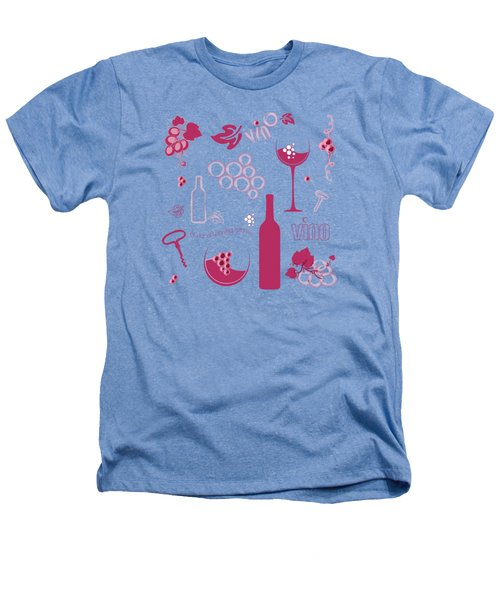 Wine Background Pattern Heathers T-Shirt by Serena King