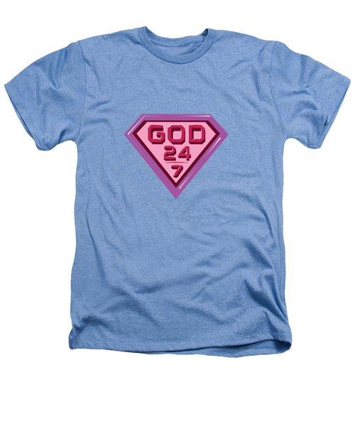 3 D Pink/purple Heathers T-Shirt