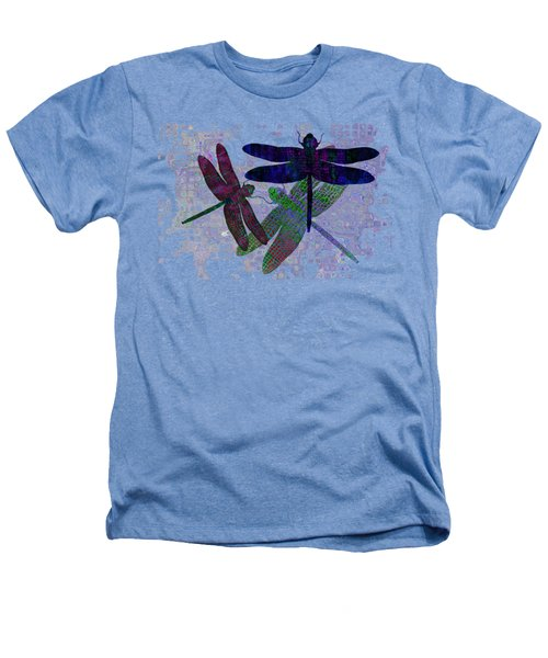3 Dragonfly Heathers T-Shirt by Jack Zulli