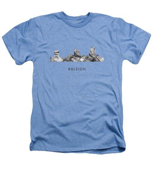 Raleigh North Carolina Skyline Heathers T-Shirt by Marlene Watson