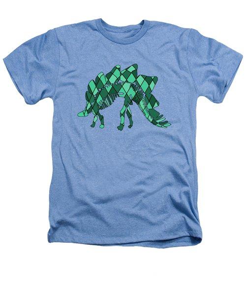 Stegosaurus Skeleton Heathers T-Shirt by Mordax Furittus
